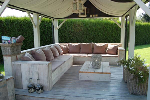 Luxe Steigerhouten Loungeset.Steigerhouten Tuinset Loungebank Sbnbouw Nl