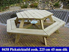 Zeshoek picknicktafel